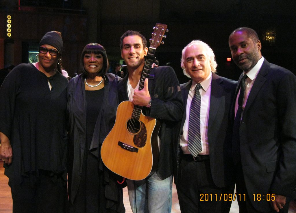 On stage at Kennedy Center with Patti LaBelle & Jon DeLise for Concert for Peace 9-11-2011